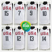 basketball james jerseys - Complete Logo name Stitched RIO Olympic USA Basketball Jersey ANTHONY DURANT IRVING THOMPSON Cousins James Sport