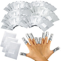 aluminium polished - 100Pcs Pack Aluminium Foil Nail Art Soak Off Acrylic Gel Polish Nail Removal Wraps Remover Makeup Tool Foil Wraps