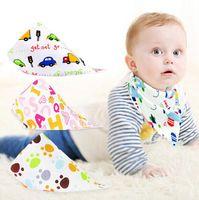 Wholesale Baby Bibs Towel Bandanas Triangle Burp Saliva Burp Saliva Infant Toddler Bandana Scarf Double Layers Kids Nursing Bibs free ship