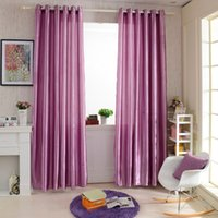 Wholesale 2PCS M M Grommet Blackout Curtain Linings Panel Solid Bright Colored Window Sheer Curtains Home Decoration for Living Room Bedroom