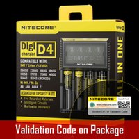 Wholesale Genuine Nitecore D4 Digicharger LCD Display Nitecore Battery Charger Intelligent Fit LI ion Freeship