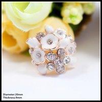 Cheap 60pcs lot 20mm ivory white flat back rhinestone button metal pearl Diamonds button wedding embellishment hair bow DIY hair accessory,37