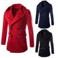 Wholesale Fashion High Quality Men Jacket Trench Coat Outerwear Overcoat Double Breasted