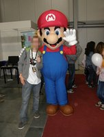 Wholesale High Quality Super Mario Mascot Costume fancy dress cartoon party costume with fan inside