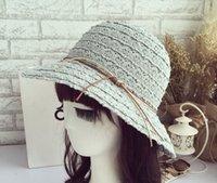 Wholesale New Art Fresh Big Brim Beach Visor Summer Women Fedoras Sun Hat Straw Hat Korea and Janpan Style