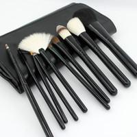 animals goats - 10 Animal Hair Professional Makeup Brush Kits Wool Makeup Brush Sets Horse Hair Makeup Tools Blusher Eye Shadow Brush