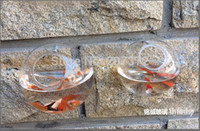 Wholesale 4pcs Transparent Crystal terrarium for plants flowers glass Fish tank decoration Wall decor for wedding
