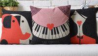 art case piano - SARA BAREILLES Red double piano like roses line design POP ART pillow decorative pillows euro case arts popular painting gift