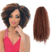 afro bulk hair - afro kinky twist marley braid hair strands kanekalon hair made