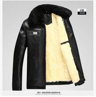 autumn coloring - Fall Autumn and winter fur leather men thickening in a long leather coat leather coat old natural coloring turndown collar down