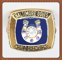 baltimore colts - Lowest price For Super Bowl Baltimore Colts Championship Ring Gold Plated World Series Alloy Rings