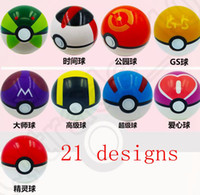 Wholesale 7CM Poke Ball Toys Pokeball Types styles Poke Cosplay Pop up Master Great Ultra GS Gift Kid Children LJJO782
