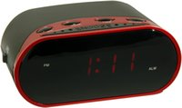 alarm source - 0 quot Single Alarm Red LED Clock Radio with Power Source Charge for Mobile Phone