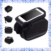 abs plastic tube - New Bike Front Tube Phone Bag Double Pocket inch Touch Screen Riding Cycling Supplies Brand