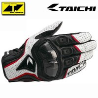 Wholesale The Latest RS TAICHI RST390 Armed Leather Mesh Gloves Motorcycle riding gloves Knight gloves red black white