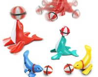 Wholesale 2016 new strange clockwork toys educational toy Hot degree rotation walk acrobatics head the ball dolphin e mail treasure
