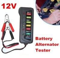 Wholesale 10pcs V Digital Battery Alternator Tester Display Car Vehicle Battery Diagnostic Tool with LED Lights