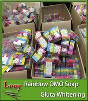 Wholesale 2016 Brand New Arrivals OMO White Plus Soap Mix Color Plus Five Bleached White Skin Gluta Rainbow Soap