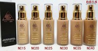 Wholesale FAMOUS BRAND MC face base Foundation ML SPE PA bb CRAEM COLORS Brighten Natural Liquid concealer new MC brand