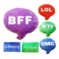 bff gifts - Twitter Plush Cushion Pillows Letters Like Follow Reblog Subscribe WTF LOL OMG BFF Sign Stuffed Doll Toy Emoji Message Bubble Christmas Gift