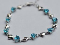Wholesale New Fashion chain bracelet S925 stering silver bracelets Cheap and Hot crystal bracelets for women