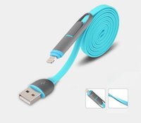 Wholesale 2 in data cable Sync Charger Core Adapter usb cable For iphone cable and android cable color Single sell