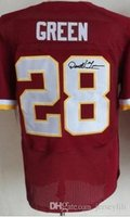 Wholesale New Darrell Green Burgundy Red Team Color white Jersey size small S xl