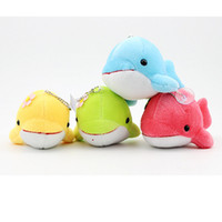 Wholesale 2016 New Small dolphin doll Plush Toys creative christmas gifts cartoon whale phone chain bag small pendant Stuffed Animals