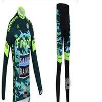 achat en gros de armée maillot xl-Équipe Tinkoff Vélo de vélo thermique d'hiver Militaire / Vélo d'armée Vélo d'hiver à manches longues Jersey et pantalon de cyclisme thermique Suit