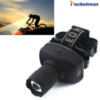 Wholesale Super Bright Mini LED Headlamp Flashlight Frontal Lantern Durable Zoomable Head Torch Light Bike Riding Lamp For Camping Hunting