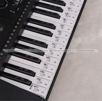 Wholesale Music Keyboard Electronic Organ Note Clear Stickers Set For Keys JDS