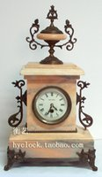 antique marble fireplace - European antique clock mechanical fireplace furnishings soft marble