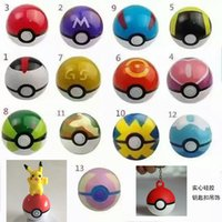 Wholesale 13 Styles New Plush Pokeball cm Ornaments Children Gifts Kids HOT items Figures Toys Master ball GS Diving ball