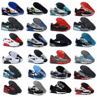 Wholesale New Men And Women Running Shoes Max Sneakers High Quality Many Colors Black and white and blue Sports Shoes Air