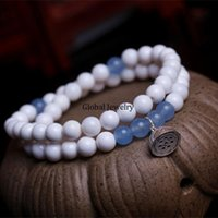 arena products - Natural white clam with Aquamarine chalcedony Bracelet original male ladies bracelets jewelry from the arena of new products