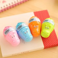 Wholesale 2016 Creative Colorful Hippo Shape Animal Mini Pencil Sharpener Knife Cutter Students Children Kids Gift Random Color