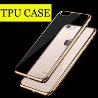 Wholesale For Iphone Case Colorful TPU Backcover Ultra Thin Case Galaxy S7 TPU Case Electroplating Technology Soft Gel Silicone Case DHL Free SCA082