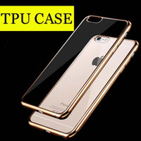 apple iphone technology - For Iphone6 plus Case note5 Colorful TPU Backcover Ultra Thin Case Galaxy S7 TPU Case Electroplating Technology Soft case DHL Free SCA082