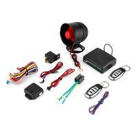 NUEVA Universal 1-Way coche de alarma del sistema de seguridad del sistema de protección de entrada sin llave Siren + 2 teledirigido Burglar venta caliente