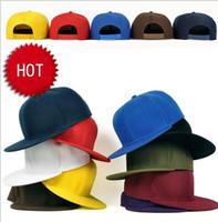 Precio de Sombreros de béisbol en blanco snapback-Moda en blanco llano sombreros del Snapback unisex de las mujeres de los hombres de Hip-Hop bboy deportiva ajustable gorra de béisbol del sombrero del sol de regalo de colores Accesorios de Moda