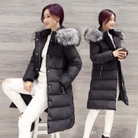 Wholesale Parka Women Winter cotton Coat Female Plus Size Jacket With Big Fur Collar Long Coats Padded slim warm casual Female Overcoat FS0702