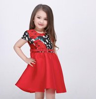 baby impressions - Flower girl dress for the party and the new fashion wedding spring summer princess impression cotton baby clothes MNOH19