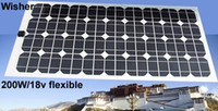 automobile sunroof - 200W flexible monocrystalline solar panel Class A for sunroof outdoor Diy RV Car Boat V battery