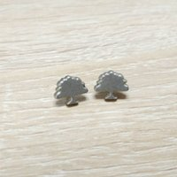 arbor day party - wholesales a dull silver color small trees pin badge for arbor day acticity