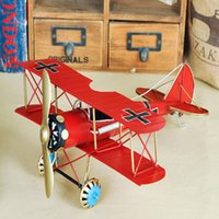 american metal craft - Vintage American Aircraft Simulation Model Metal Ornaments Home Decor Crafts Small Living Room Furnishings Photography Props Simulatio BJ22