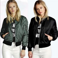 Wholesale Fashion Women s Crew Neck Quilting Quilted Jacket Short Thin Padded Bomber Jacket Coat Pilots Outerwear Tops