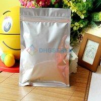 Wholesale 100pcs Resealable zipper top aluminum foil bag for tea nuts candy food packaging bags aluminum foil pouch