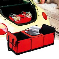 Wholesale Car Trunk Storage Bag Oxford Cloth Folding Truck Storage Box Car Trunk Tidy Bag Organizer Storage Box With Cooler Bag