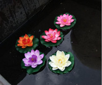 artificial lotus - Artificial Lotus Flower Garden Aquarium Floating Flower Colorful Silk Flowers Christmas Supplies Wedding Party Decorations Home Flower DHL