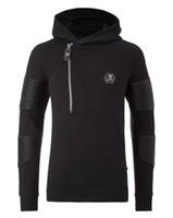 big collar hoodie - Low Price Autumn Winter Trend New Men s Popular Big Skull Skull Logo Zipper Collar Hoodies Jacket Coat M XL